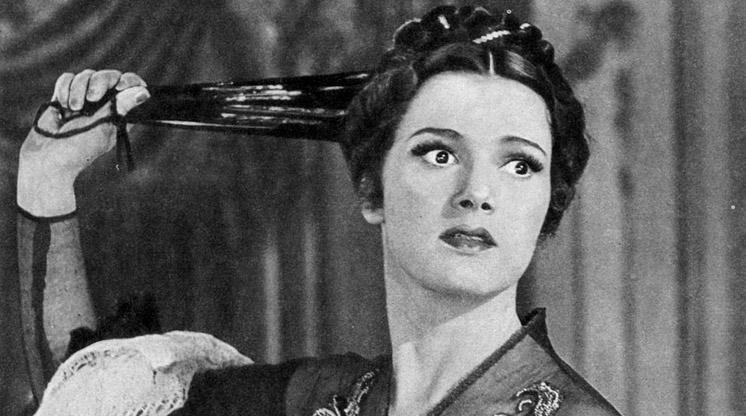 На съемках фильма «Идиот», в роли Настасьи Филипповны - Юлия Борисова (режиссер Иван Пырьев, 1958 год)