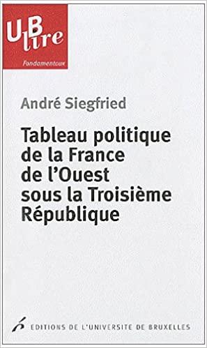 Tableau politique delaFrance del'Ouest sous laTroisième République